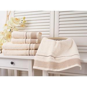 Detexpol Fabio bavlněný ručník z froté 50x90 cm ALMOND (450g/m2)