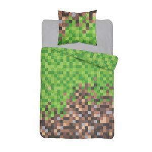 Detexpol Povlečení Bavlna 140x200 + 70x80 - Minecraft kostičky