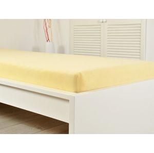 B.E.S. Petrovice Žluté prostěradlo Froté elastické 140x200 žlutá (190g/m2)