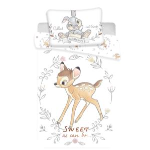 Jerry Fabrics Povlečení do postýlky 100x135 + 40x60 cm - Bambi Sweet baby