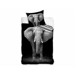 TipTrade Bavlněné povlečení 140x200 + 70x90 cm - Slon africký