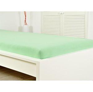 B.E.S. Petrovice Jersey elastické prostěradlo 180x200 s gumou sv. zelená (II.jakost)