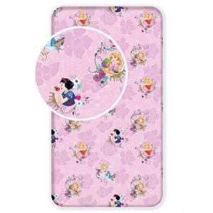 Jerry Fabrics Dětské licenční prostěradlo z bavlny Princess Pink 02 90x200 cm